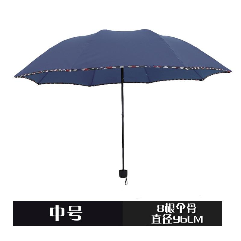 Men Business Eight Bone Umbrella Three-fold Umbrella Logo Umbrella Rain Or Shine Dual Purpose Customizable Advertising Umbrella