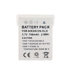 Ohd Originele 980 Mah EN-EL8 En EL8 ENEL8 Digitale Camera Batterij Voor Nikon Coolpix P1 P2 S1 S2 S3 S5 s50 S51 S52 PM087