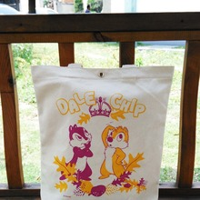 Bolso de mano lindo de lona de las ardillas del Chip 'n' Dale de la historieta de la vendimia Original de Japón envío gratis