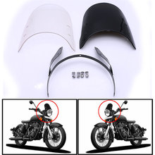 Nuoxintr Motorcycle Windshield Spoiler Airflow Wind Deflector Extension Spoiler Windscreen For Royal Enfield Classic 500CC universal motorcycle windshield airflow adjustable windscreen extension deflector windshield spoiler small
