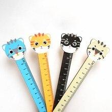 1pcs cat Magnetic Ruler Kawaii Stationery Cute Rulers Student Soft Ruler Drafting Rules School Supplies