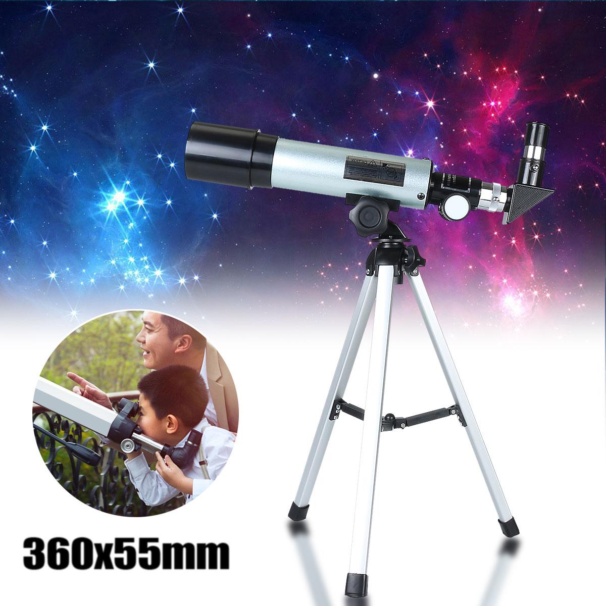 360x50mm f36050m telescopio astronomico de acampamento monocular com tripe portatil espaco spotting escopo monocular telescopio