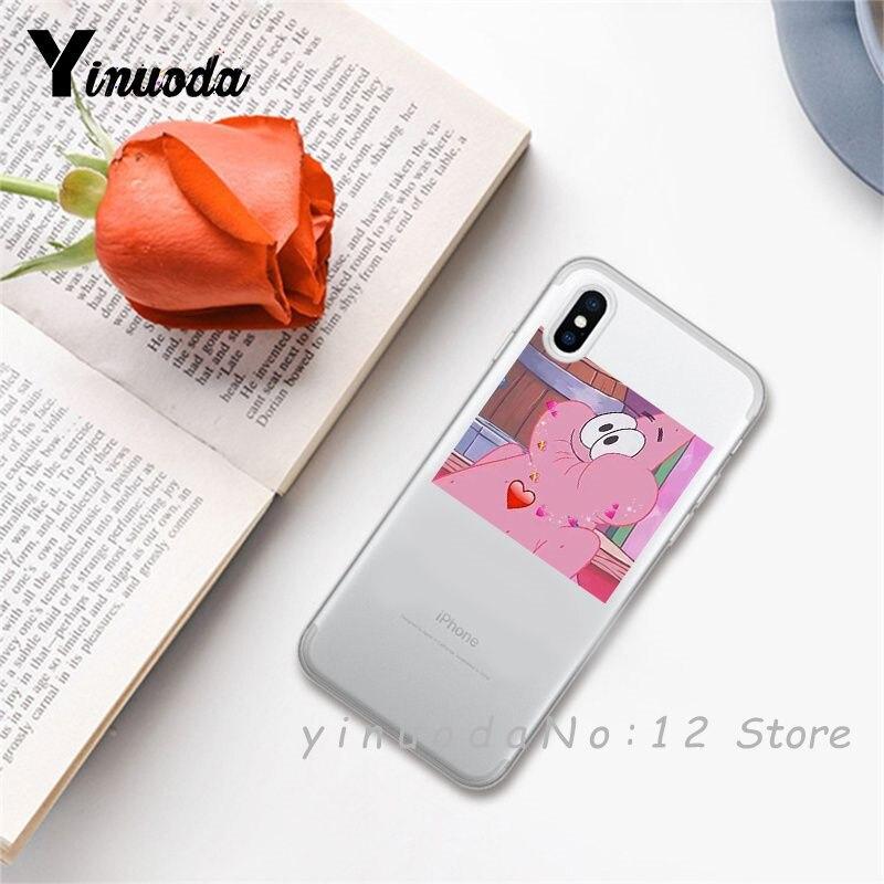 Yinuoda супер милый кот собака мультфильм розовый в форме сердца ты и я серия HD Прозрачный чехол для телефона для iphone 6 7 8 Plus X XS XSMax 5S - Цвет: 21