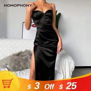 HOMOPHONY Sexy Dress Bodycon Summer 2020 Strapless Spaghetti Strap Bandage Midi Dress Party Casual Basic Clubwear Dress vestido