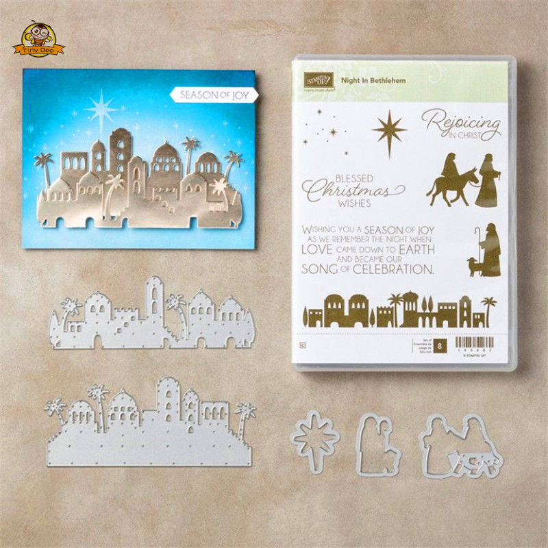 Blessing <font><b>Christmas</b></font> Wishes Metal <font><b>Cutting</b></font> <font><b>Dies</b></font> and Stamps for Scrapbooking New 2019 <font><b>Die</b></font> Cuts for Card Making Stitch Craft <font><b>Dies</b></font> image