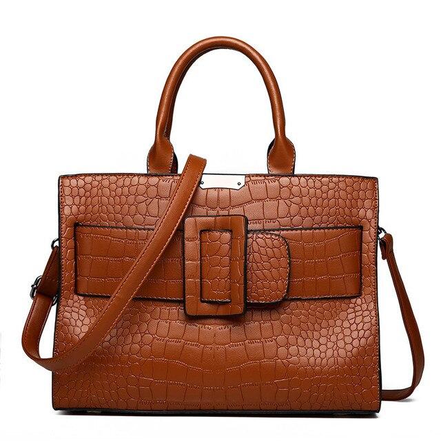 Sacs à main de marque Alligator en cuir pour femmes, sacs de luxe décontracté, sacoche à épaule, fourre tout Fashion pour dames