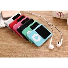 Тонкий MP3 музыкальный плеер 1,8 дюймовый ЖК-экран металлический корпус 4 ГБ-16 Гб HIFI MP3-плеер Поддержка электронной книги чтения fm-радио
