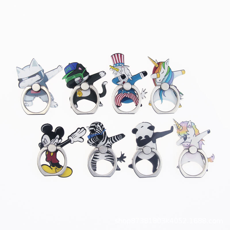 Universal Metal Hot Finger Ring Mobile Cell Phone Cute Cartoon Phone Holder Stand For IPhone 6s 7 8 Plus X Brack Holder