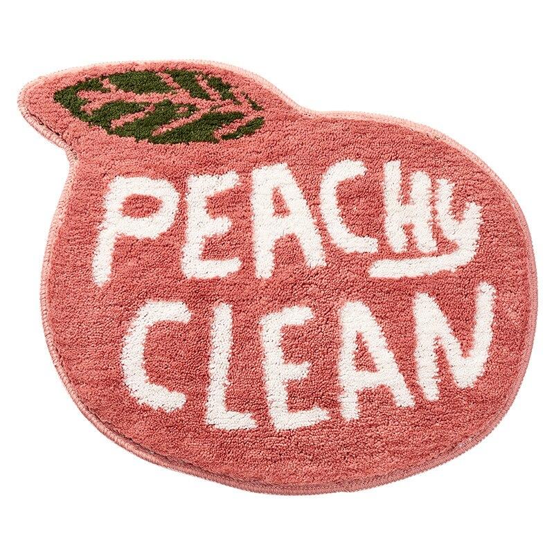 Flocking Fruit Peach Lemon Shape Home Entrance Mat Bedroom Bathroom Door Non-slip Foot Pad