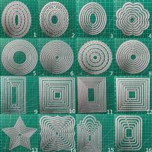 25Pcs Frames Metalen Stansmessen Scrapbooking Stencil Diy Papieren Kaart Decoratieve Embossing Sterven Cut Craft Sterft 2020 Nieuwe(China)