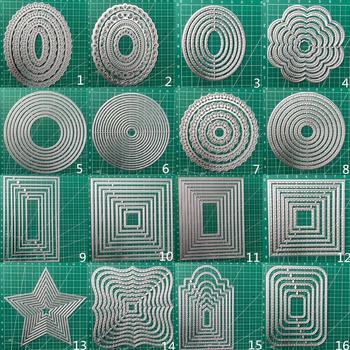 25PCS  Frames Metal Cutting Dies Scrapbooking Stencil DIY Paper Card Decorative Embossing Die Cut Craft Dies 2020 NEW