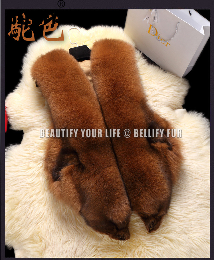 Fluffy Fuzzy Soft Blana de vulpe Vesta Femeii Modă de iarnă Mid - Îmbrăcăminte femei