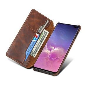 Image 5 - Cuir véritable pour Samsung Galaxy S10 Coque Coque Samsung S10Plus étui à rabat de luxe pour Etui Samsung S10 Plus étui Galaxy S10e
