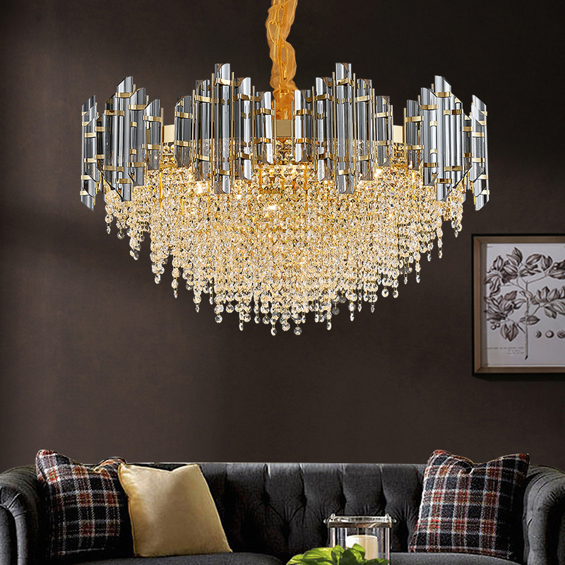 Post-modern Light Luxury Crystal Chandelier Living Room Restaurant Creative Personality Nordic Simple New High-grade Atmospheric