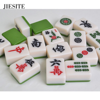JIESITE High Quality Traveling Mahjong set Mahjong Games Home Games Chinese Funny Family Table Board Game Melamine mahjong