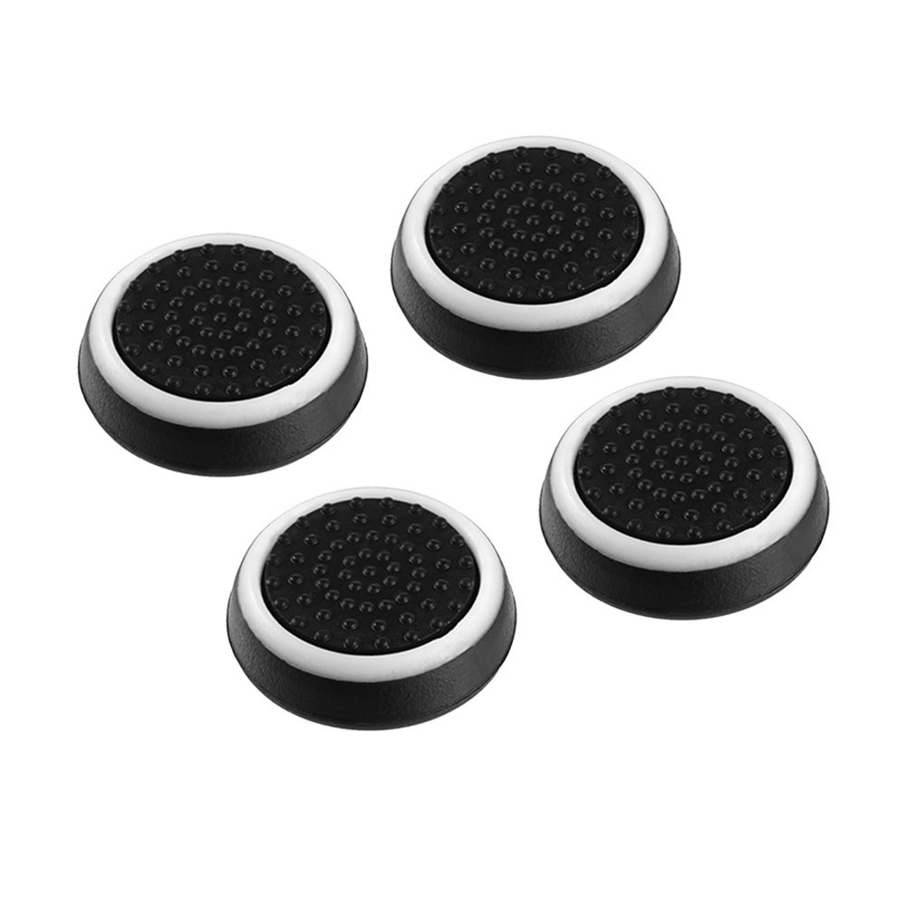 4pcs Silicone Anti-slip Striped Gamepad Keycap Controller Thumb Grips Protective Cover for PS3/4 for X box One/360