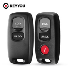 KEYYOU-carcasa de llave remota para Mazda, carcasa Fob de entrada sin llave para modelos 2, 3, 6 Series, 2/3, 2004, 2005, 2006, 2007, 2008 y 2009, 2010