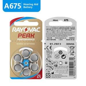 Image 2 - Стимулятор слухового аппарата Rayovac Peak Air 675A A675 1,45 PR44, 60 шт., Новый цинковый воздух, 675 в, Бесплатная доставка! Аккумулятор слухового аппарата