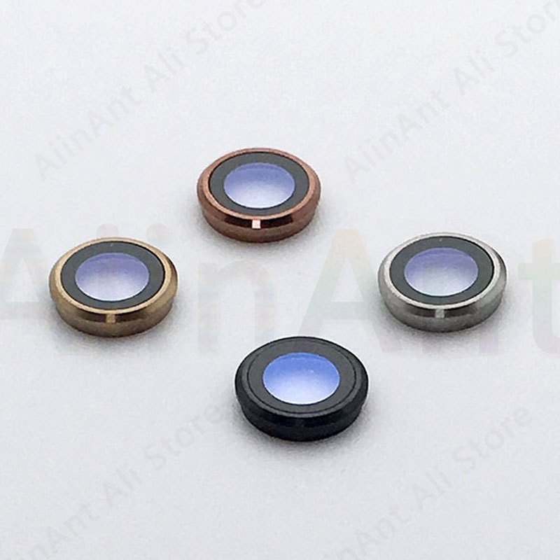 Original Sapphire Crystal Back Rear Camera Glass Ring For iPhone 6 6s Plus Camera Lens Ring Cover Repair Parts