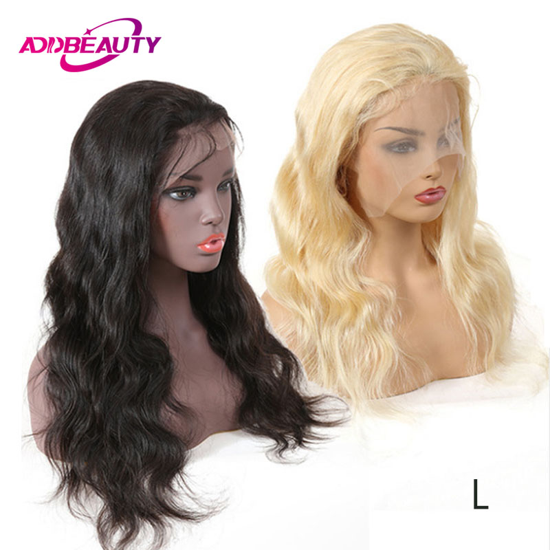 Full Lace Wigs Brazilian Remy Hair Body Wave Pre Plucked Human Hair With Baby 130% Denisty Natural Color 613 Blonde Low Ratio