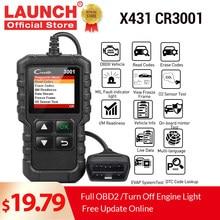 LAUNCH X431 CR3001 obd2 المهنية السيارات الماسح الضوئي OBDII رمز القارئ أدوات تشخيص السيارات محرك قبالة تحديث مجاني pk elm327