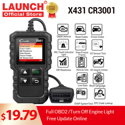 LAUNCH X431 CR3001 obd2 professional automotive scanner OBDII Code Reader Car Diagnostic tools engine off free update pk elm327