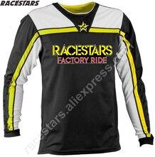 цена на RACESTARS MTB Cycling Clothing DH Downhill Jersey Mountain Bike Maillot BMX MX Bicycle Clothes Moto Motocross Shirts Motorcycle