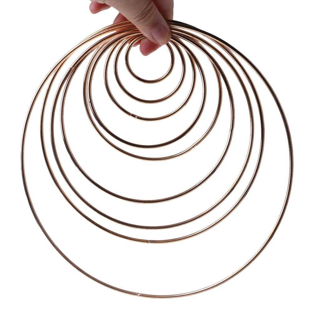 3.5-19cm Metal Dream Catcher Dreamcatcher Ring Macrame Craft Hoop Gold DIY Accessory 10 Szies New
