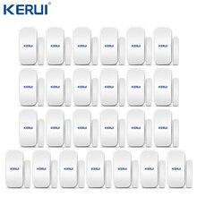 25 adet Kerui ev alarmı kablosuz kapı pencere manyetik dedektör boşluk sensörü için GSM Wifi ev güvenlik Alarm sistemi dokunmatik tuş takımı