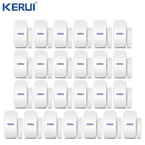 Image 1 - 25 stücke Kerui Home Alarm Drahtlose Tür Fenster Magnetische Detektor Lücke Sensor Für GSM Wifi Home Security Alarm System Touch tastatur