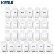 25pcs Kerui 홈 알람 무선 도어 창 자기 감지기 갭 센서 GSM 와이파이 홈 보안 경보 시스템 터치 키패드