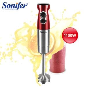 Hand-Blender Food-Mixer Electric Sonifer Kitchen High-Power 2-Speeds Vegetable-Fruit