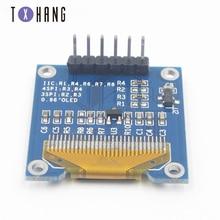 Yellow blue 128X64OLED LCD LCD display module for Arduino 0.96 inch I2C IIC serial port ele