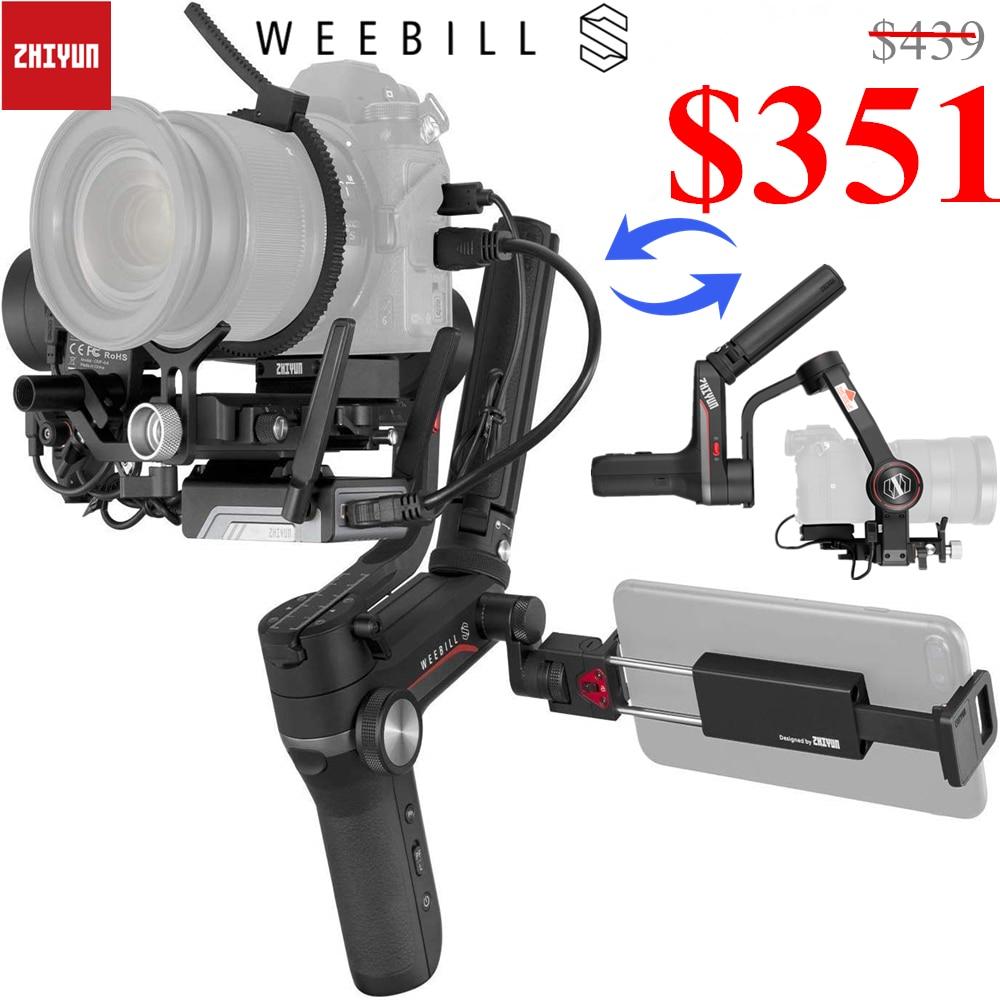 Zhiyun weebill s 3 eixos handheld cardan estabilizador para dslr & câmera mirrorless sony nikon z6 panasonic s1 gh5s com 24-70mm gm