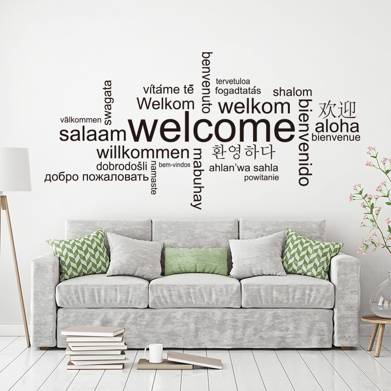 Positive Family Motivational Quotes English Words Wall Sticker Removable Room