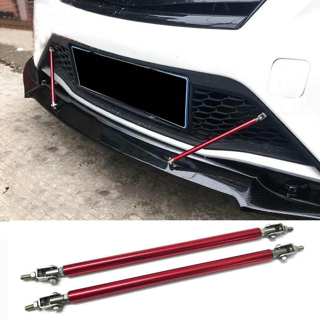 2 Pcs Car Adjustable Front Bumper Lip Splitter Strut Tie Bar Support Rod For Car Truck Rv Camper Trailer Motorhome Etc 150 200mm Body Kits Aliexpress