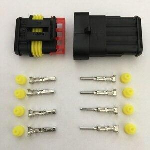 282088-1 282106-1 100 набор 4pin Way AMP супер уплотнение водонепроницаемый электрический провод разъем для автомобиля водонепроницаемый разъем