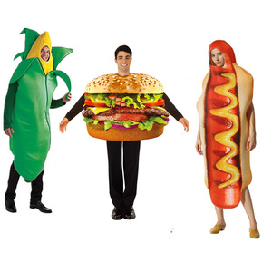 adult pizza Funny hot dog corn Hamburger Costume Party Role Play Outfits Women men Halloween Cosplay Yummy Fast Food Costumes(China)