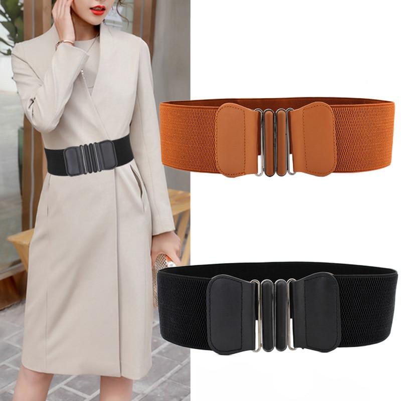 Fashion Elastic Wide Belts For Women Designer Luxury Brand Waist Strap Dress Coat Sweater Ladies Decorative Waistband
