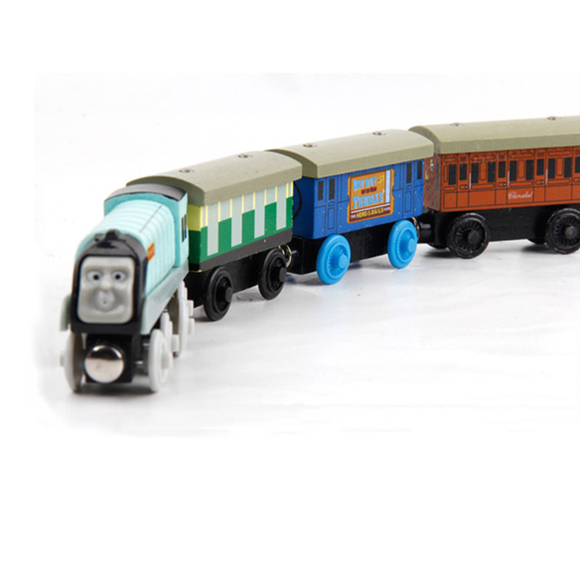 New Emily Wood Train Magnetic Wooden Trains Model Car Toy Compatible with Brio Brand Tracks Railway Locomotives Toys for Child 5