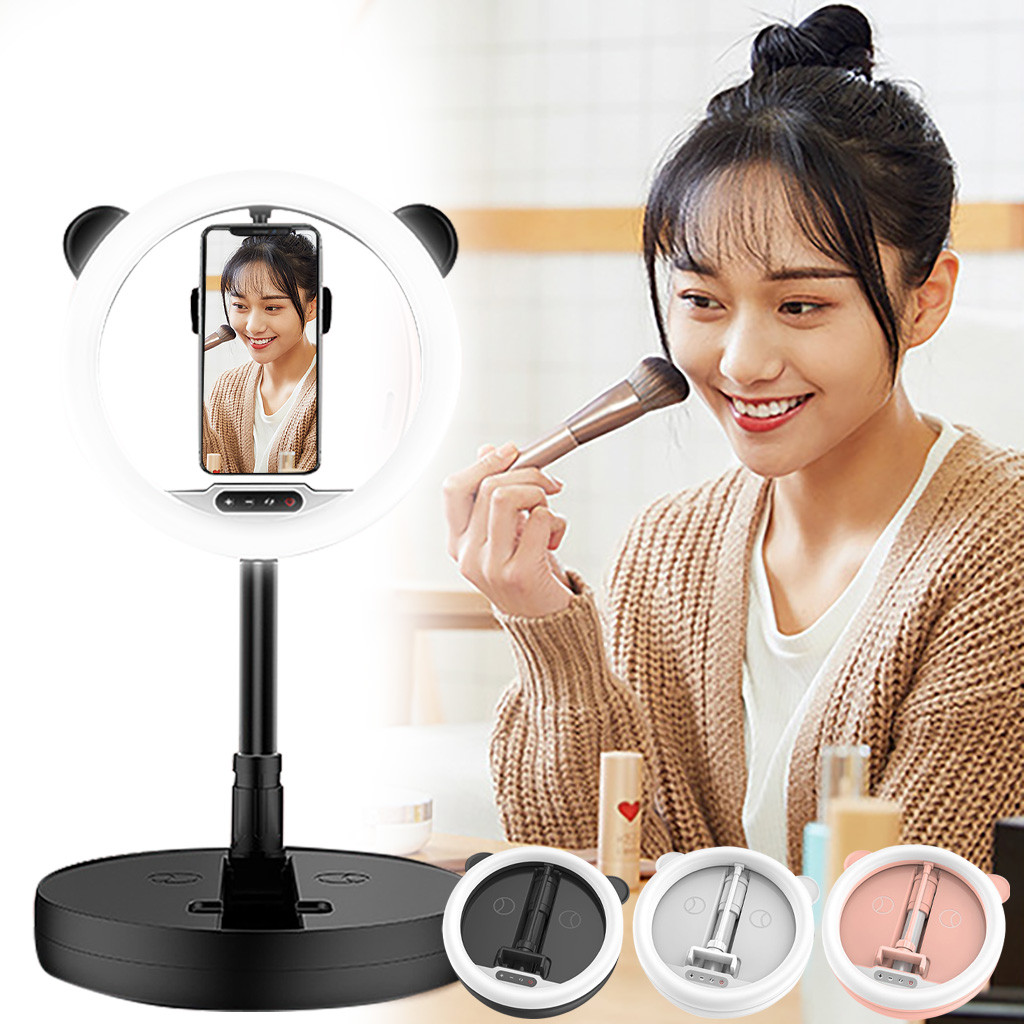 Dimmable Portable LED Ring Light Kit with Stand for Makeup Phone Camera Selfie ring light