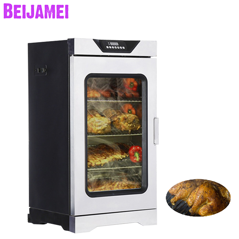 BEIJAMEI Intelligent Electric Chicken Fish Food Smoking Machine Household Small Commercial Bacon Furnace/meat Smoked Oven