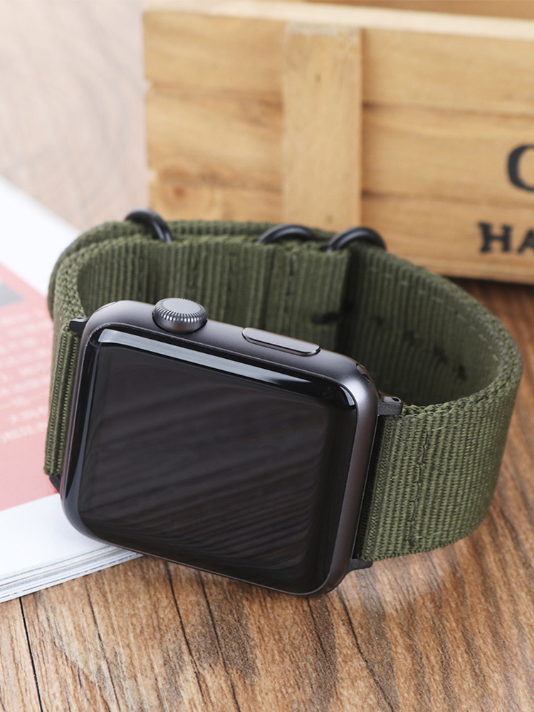Nylon Watchband Band-Series 40mm-Strap Leather Bracelet 44mm for Apple 5/4/3-/.. 42mm