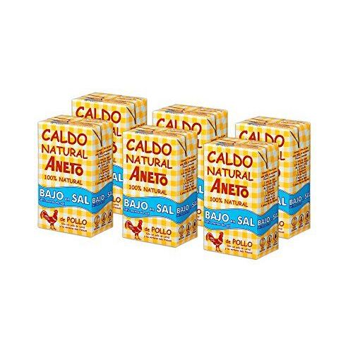 Aneto 100% Natural Low Sodium Chicken Broth 1L (6 Pack)