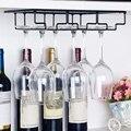 Подвесной винный Стеклянный Стеллаж под шкаф рюмки держатель для вина стекло es вешалка для хранения металлический органайзер для бара кухн...