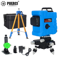 PUERCI P7CG 12 Lines 3D Level Self-Leveling 360 Horizontal And Vertical Cross Super Powerful Green Laser Beam Line laser level 12 lines 3d self leveling 360 horizontal and vertical cross super powerful green laser beam line