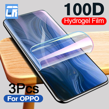 Перейти на Алиэкспресс и купить 3 шт. 100D Защитная Гидрогелевая пленка для OPPO Reno 2 A11X K3 K1 полная защитная пленка для OPPO Realme 3 5 Pro не стекло