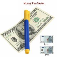 5 шт. тестер денег Checker ручка банк детектор банкнот ручки кованые поддельные заметки Ручка детектор обмана маркер Магия ручка для определения фальшивых денег
