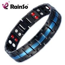 Rainso Magnetische fir Bio Energie Magnet Armband für Arthritis Mann Charme Edelstahl Armbänder Zubehör Drop schiff 2019