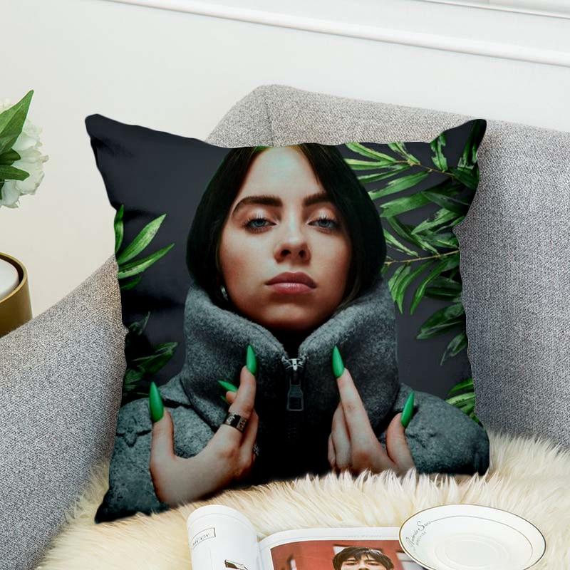 Billie Eilish Pillow Case Polyester Decorative Pillowcases Throw Pillow Cover Style-9